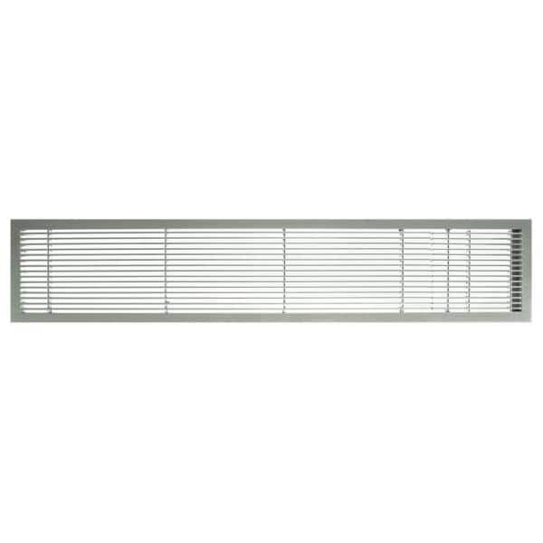 Architectural Grille Ag10 Series 4 In X 36 In Solid Aluminum Fixed Bar Supply Return Air Vent Grille Brushed Satin With Door 100043611 The Home Depot