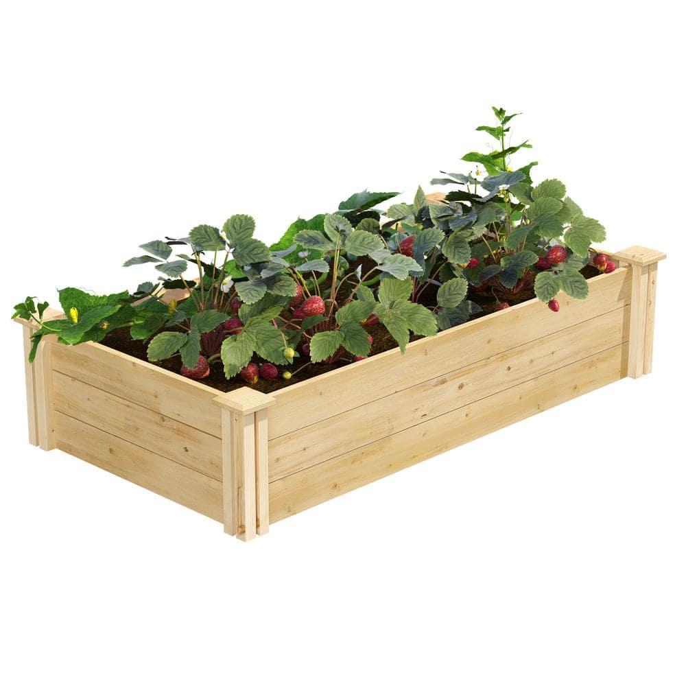 Square Wooden RAISED BED for VEGETABLE GARDEN PLANTER Treated 2 FT 3FT 4FT