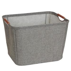13 in. D x 11 in. H x 16 in. W Grey Fabric Cube Storage Bin