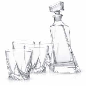 22 oz. Atlas Crystal Whiskey Decanter with 10 oz. Whiskey Glasses