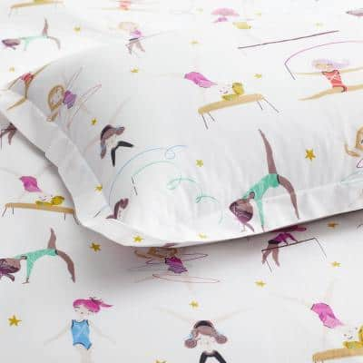 Company Kids Little Gymnasts Multicolored Organic Cotton Percale Comforter Set
