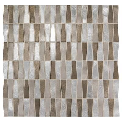 Premier Accents Desert Trapezoid 11 in. x 12 in. x 8 mm Metal Mosaic Wall Tile (0.96 sq. ft./Each)