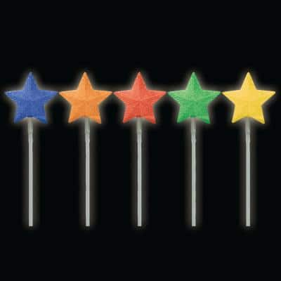 Battery Operated Pathmarker LED Light Show Stars (5-Set)