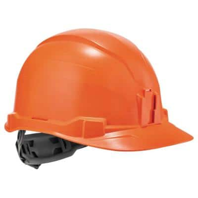 Skullerz Orange Class E Hard Hat Cap Style with Ratchet Suspension