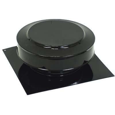 50 sq. in. NFA Aluminum Round Back Static Roof Vent in Black