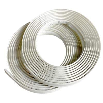 1/2 in. x 10 ft. White PVC Inside Corner Self-adhesive Flexible Caulk and Trim Molding (2-Pack)