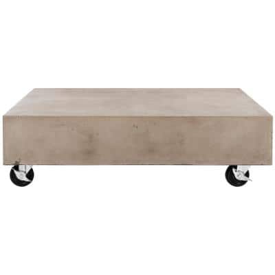 Gargon Dark Gray Rectangle Stone Indoor/Outdoor Coffee Table