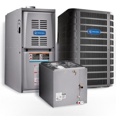 Signature 3.5 Ton 15.1 SEER Upflow 80% AFUE 110,000 BTU Complete Split System Air Conditioner with Gas Furnace