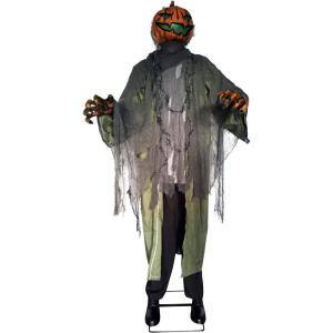 91 in. Light-Up Animatronic Pumpkin Man