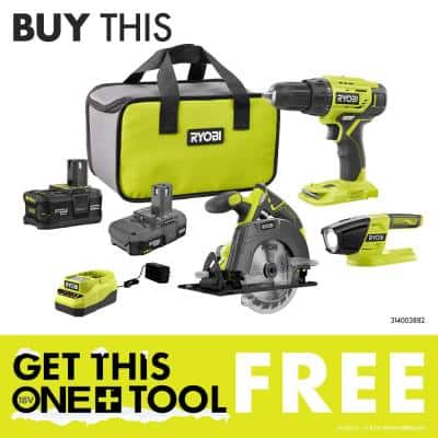 ONE+ 18V Cordless Full Size Glue Gun (Tool-Only) with 3 General Purpose Glue Sticks