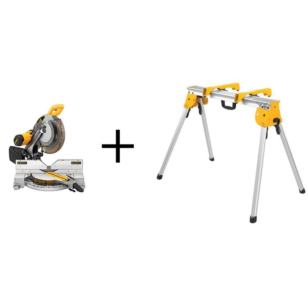 15 Amp Corded 12 in. Double-Bevel Compound Miter Saw with Heavy-Duty Stand
