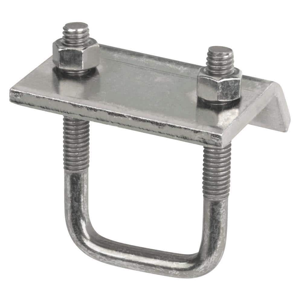 Superstrut Channel To Beam Strut Clamp With U Bolt Silver Galvanized Zu501eg 10 The Home Depot