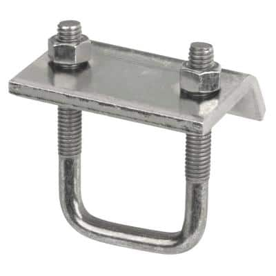 Channel to Beam Strut Clamp with U-Bolt - Silver Galvanized