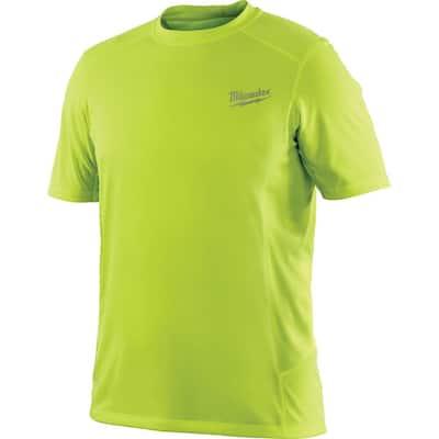 Men's 3X Workskin High Visibility Yellow Light Weight Performance Shirt
