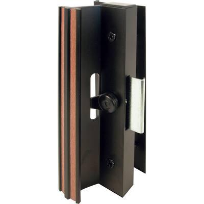 Extruded Aluminum, Black, Sliding Patio Door with Clamp Type Latch