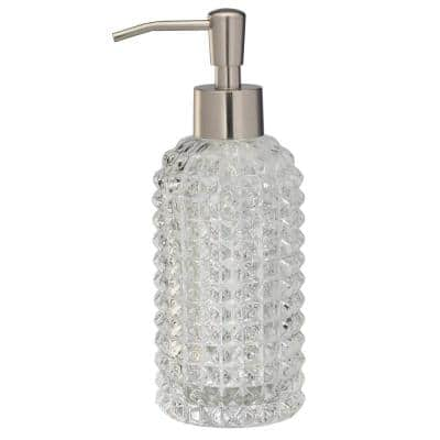 Deco Glass Soap Lotion Dispenser in Clear