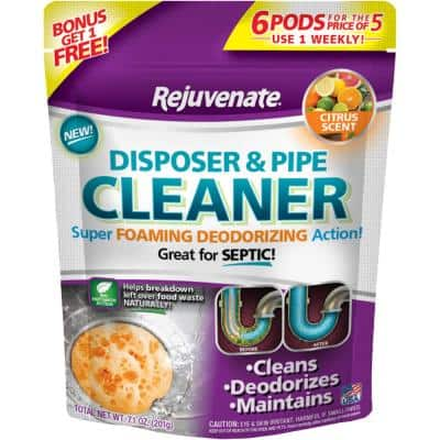 Citrus Scent Disposer and Pipe Cleaner (6-Pack)