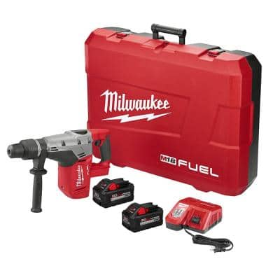 M18 FUEL 18-Volt Lithium-Ion Brushless Cordless 1-9/16 in. SDS-Max Rotary Hammer Kit w/ Two 8.0Ah Batteries & Hard Case