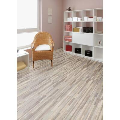 Seashore Wood 12 in. x 24 in. Peel and Stick Vinyl Tile Flooring (20 sq. ft. / case)