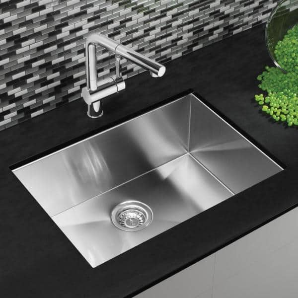 Blanco Quatrus R0 Undermount Stainless Steel 25 In Single Bowl Kitchen Sink 518171 The Home Depot