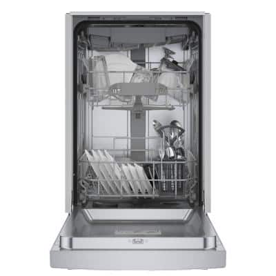 300 Series 18 in. ADA Compact Front Control Dishwasher in Stainless Steel with Stainless Steel Tub and 3rd Rack, 46dBA