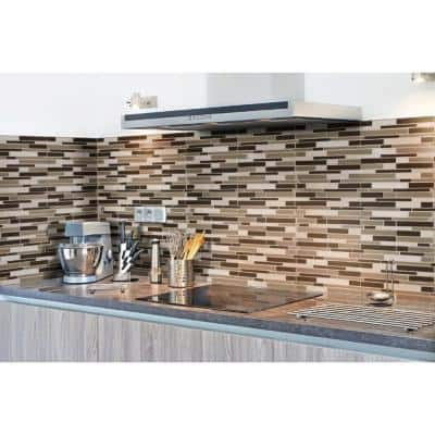 Kings Gate Interlocking 12 in. x 12 in. x 6 mm Glass/Stone Mix Mesh-Mounted Mosaic Tile (15 sq. ft./Case)