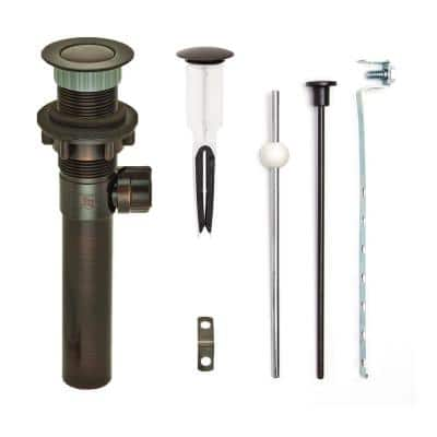 """EasyPOPUP  Pop-Up Drain, Easy Install/Remove Stopper, Matching ABS Body w/o Overflow, 1.6-2"""" Sink Hole, Oil Rub Bronze"""