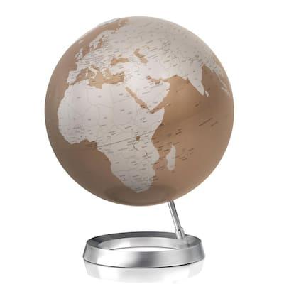Vision 12 in. Decorative Desktop Globe in Almond