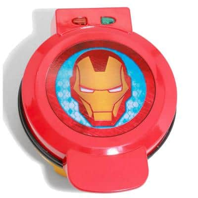 Iron Man 900-Watt Single Red American Waffle Maker