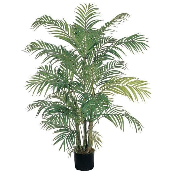 Nearly Natural 4 Ft Areca Silk Palm Tree 5001 The Home Depot