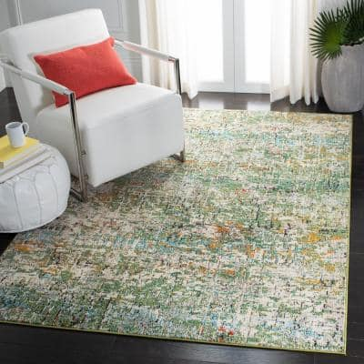 Madison Green/Turquoise 8 ft. x 10 ft. Area Rug