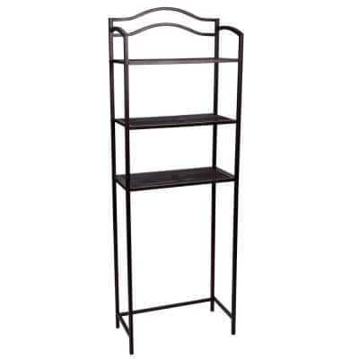 23.5 in. W Over the Toilet 3-Tier Rack in Expresso