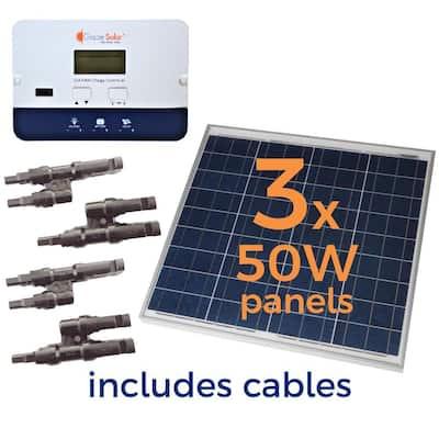 150-Watt Off-Grid Solar Panel Kit