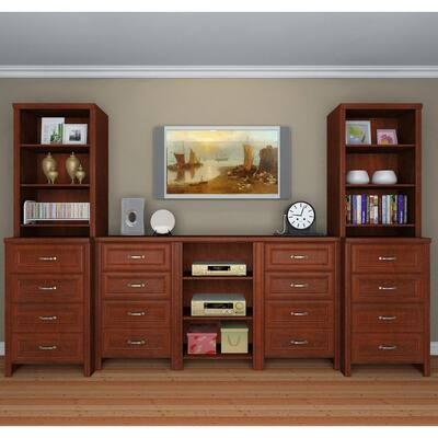 Impressions 19.65 in. D x 125 in. W x 83 in. H Dark Cherry Great Room Laminate Kit