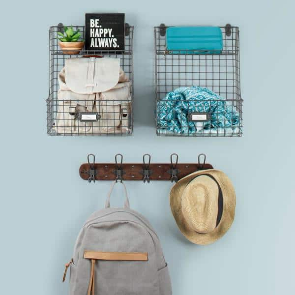 Hats Backpack Hook Towels Rose in Glass Mini Wall Hook
