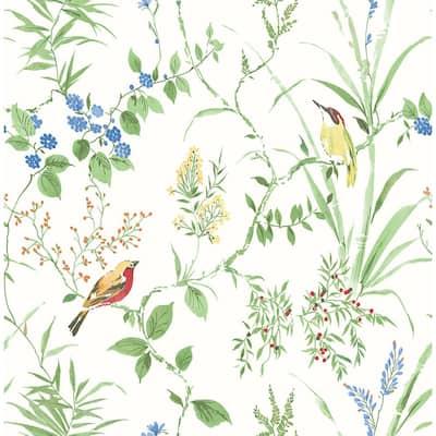 Imperial Garden Multicolor Botanical Multicolor Wallpaper Sample