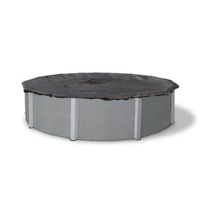 12 ft. Round Black Rugged Mesh Above Ground Winter Pool Cover