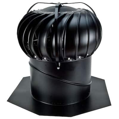 14 in. Black Aluminum Externally Braced Whirlybird Wind Turbine