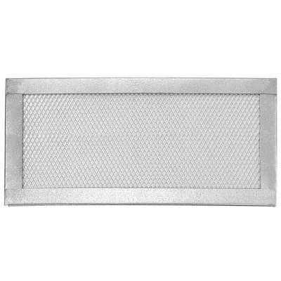 16 in. x 8 in. Galvanized Steel Flat Screen Vent