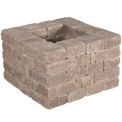 RumbleStone 28 in x 17.5 in. x 28 in. Square Concrete Planter Kit in Cafe