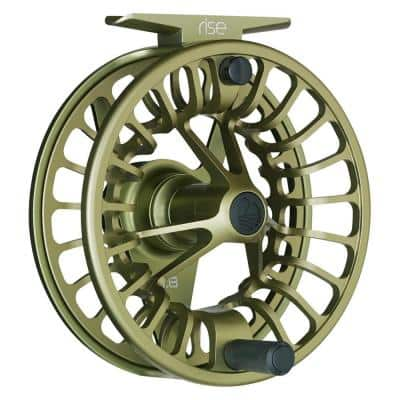 Rise Series 3/4 Heavy-Duty Fly Fish Angler Fishing Rod Reel, Olive