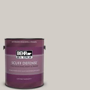 1 gal. Home Decorators Collection #HDC-NT-20 Cotton Grey Extra Durable Eggshell Enamel Interior Paint & Primer