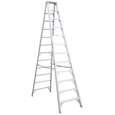 12 ft. Aluminum Step Ladder with 375 lb. Load Capacity Type IAA Duty Rating