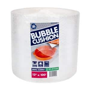 3/16 in. x 12 in. x 100 ft. Clear Perforated Bubble Cushion Wrap