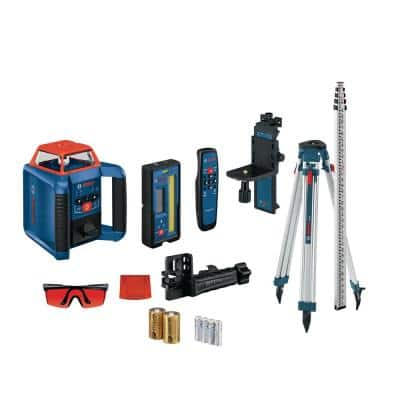 REVOLVE 2000 ft. Horizontal/Vertical Rotary Laser Self Leveling Complete Kit with Manual Dual Slope