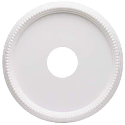 16 in. White Beaded Ceiling Medallion