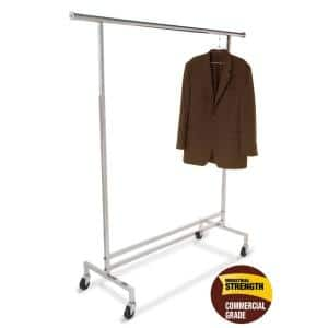 Metallic Metal Clothes Rack 59 in. W x 3 in. H