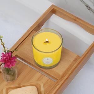 Seeking Balance Uplift Lemon and Bergamot Scented Beeswax Blend Jar Candle with Wood Wick