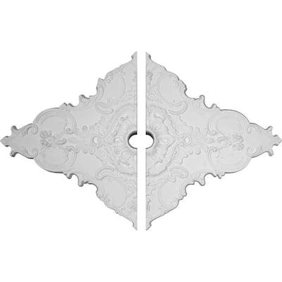 2 in. x 67-1/4 in. x 43-3/8 in. Polyurethane Melchor Diamond Ceiling Medallion Moulding (2-Piece)