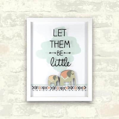 11 in. x 14 in. Let Them Be Little 1-Piece Shadowbox with Raised Shape